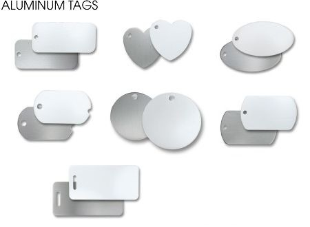Uniquely Shaped Aluminum Tags