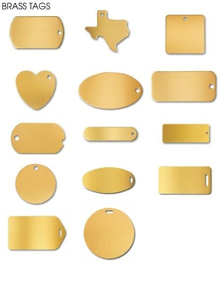 Uniquely Shaped Brass Tags