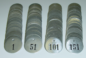Numberd Aluminum Tags