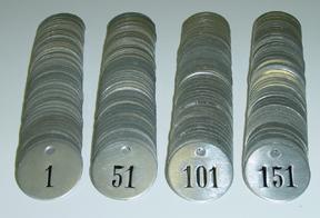 Numberd Aluminum Tags