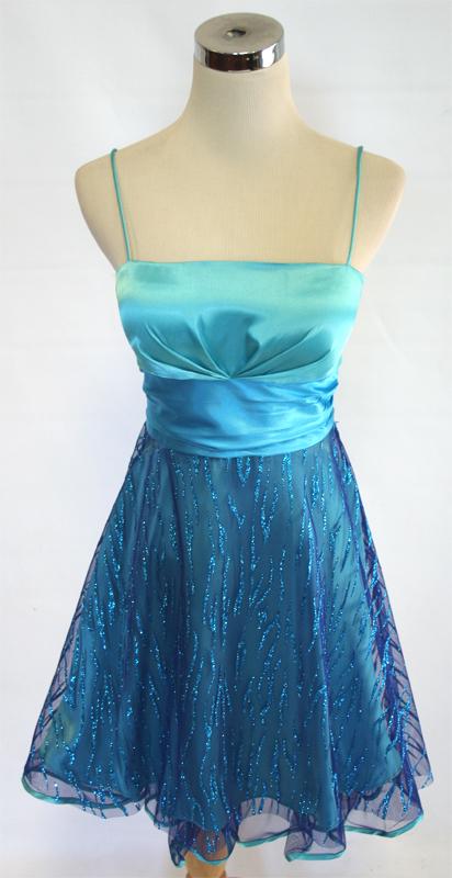 SILVER Cocktail Dress 5 NWT JUMP APPAREL $100 AQUA