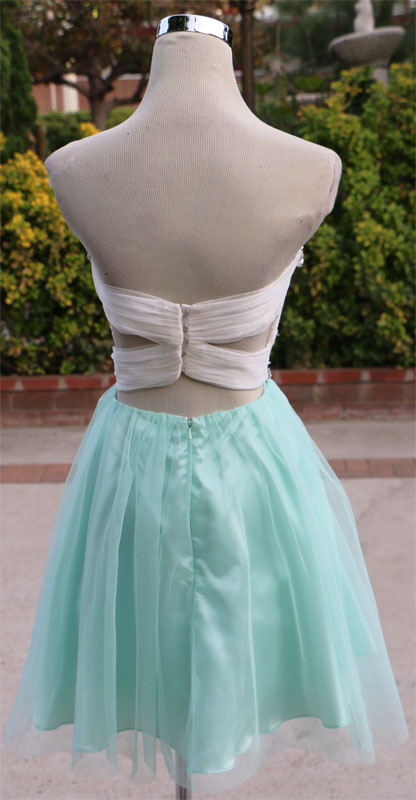 NWT ALEX /& SOPKIA $140 White Mint Party Prom Dress 9