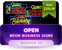 Neon Open Business Signs