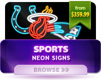 Neon Sports Signs