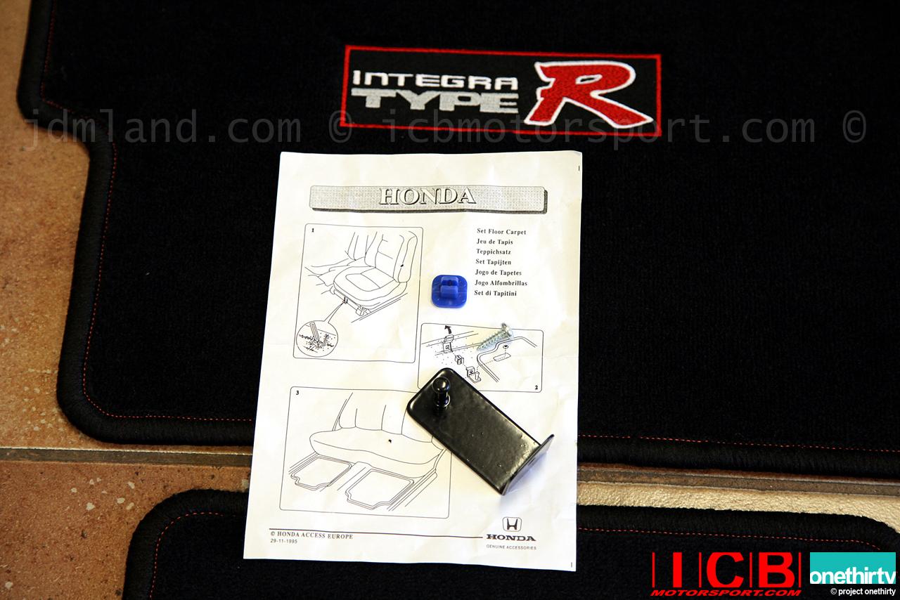 Edm Honda Access Integra Type Red Stitched Black Floor Mats Lhd