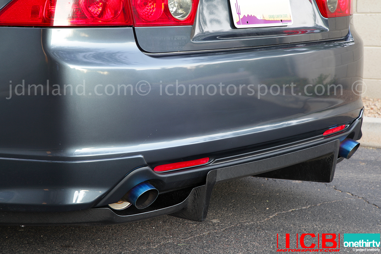 First Molding Carbon Fiber Cl Accord Euro R Cl Acura Tsx Rear Under Diffuser Icb Intern Pic