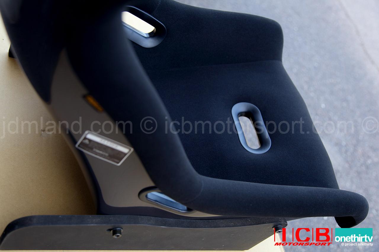 icb japan pursuit mk i full bucket seat frp back black fabric