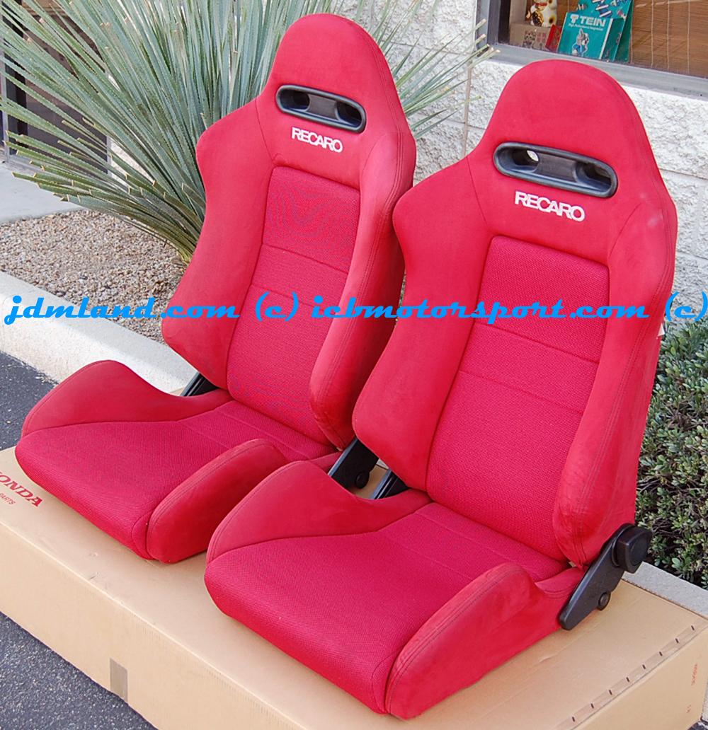 Used JDM Integra DC5 Red Recaro Seats Condition 9.0/10 Sold