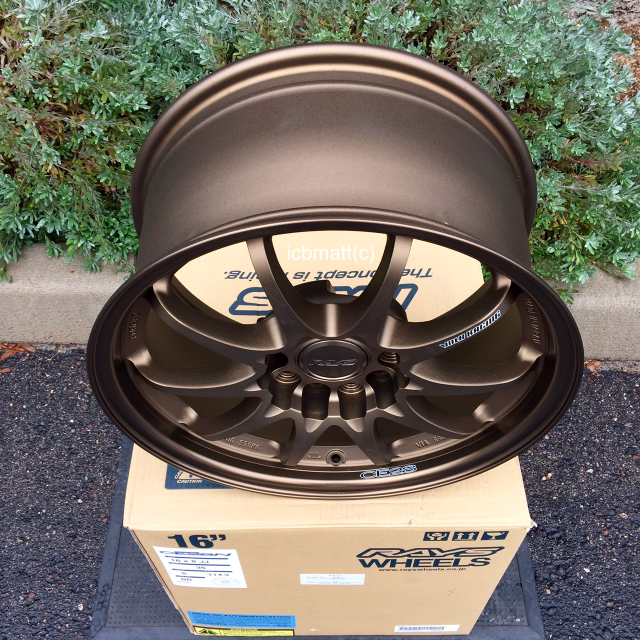 Rays Volk Racing CE28N Bronze Wheels Set 5X114.3 16X8 +35