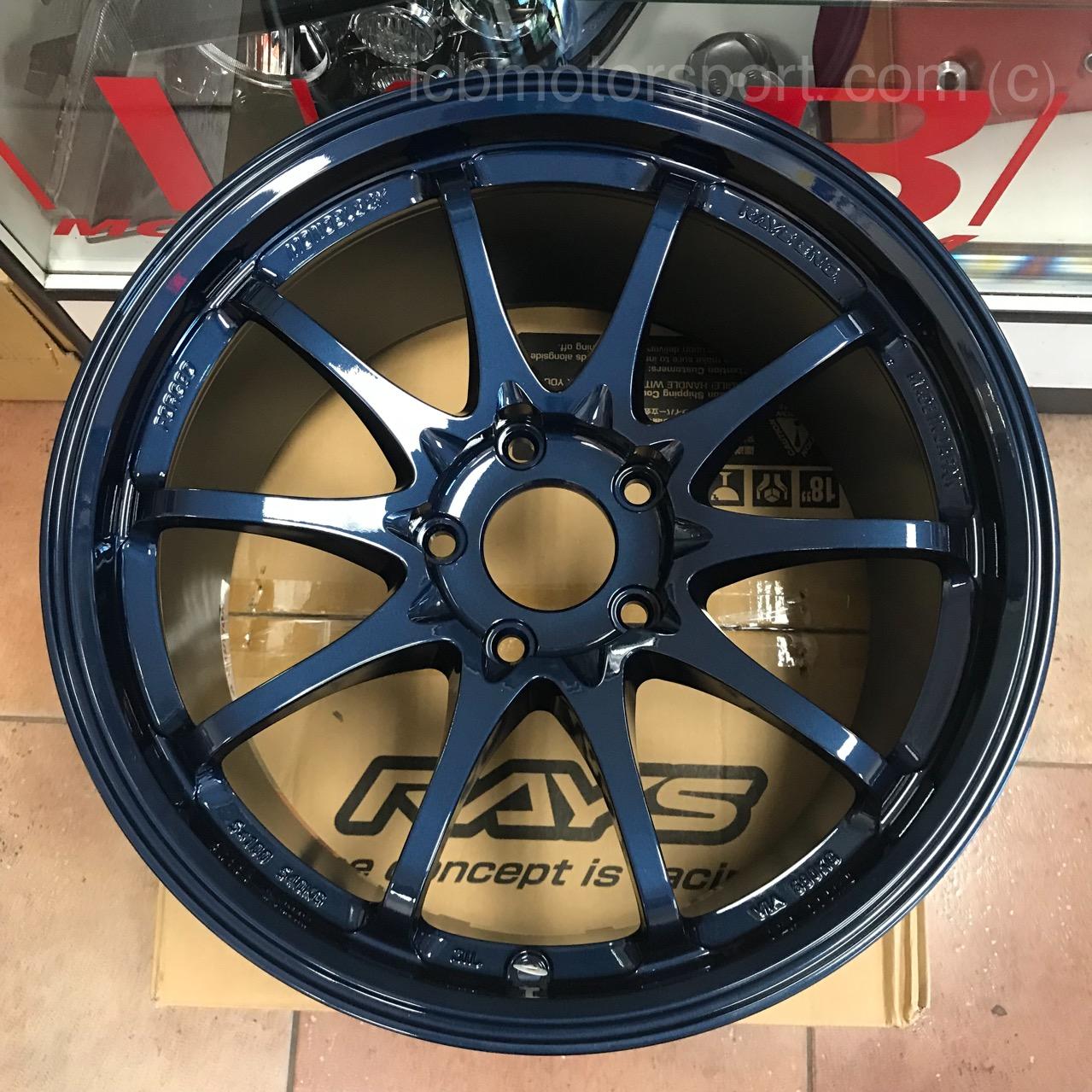 Rays Volk Racing Ce28sl 18x9 5 5x120 44 Offset Mag Blue