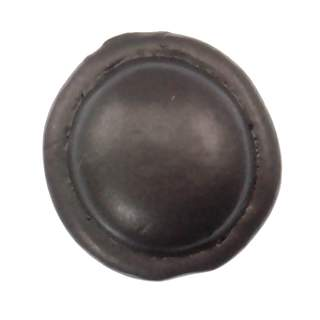 3/4 Inch Solid Pewter Button Style Knob (Bronze Finish)