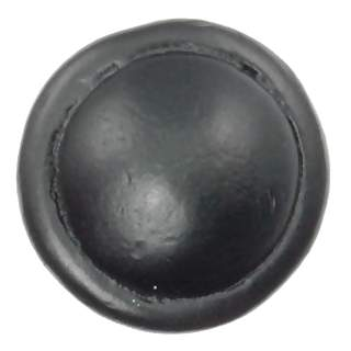 1 1/8 Inch Solid Pewter Button Knob (Matte Black Finish)