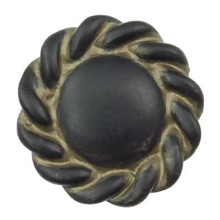 1 1/5 Inch Solid Pewter Roguery Style Knob (Black Bronze Wash Finish)