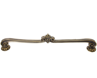 Solid Pewter Corinthia Style Pull (Bronze Finish)