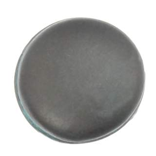 1 Inch Solid Pewter Pompeii Plain Knob (Verdigris Finish)
