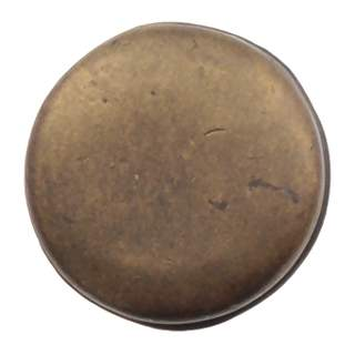 1 1 1/4 Inch Solid Pewter Pompeii Large Plain Knob (Rubbed Bronze Finish)