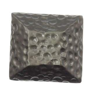 1 Inch Solid Pewter Hammerhein Style Square Knob (Bronze Finish)