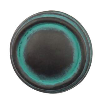 1 Inch Solid Pewter Sonnet Knob (Verdigris Finish)