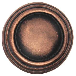 1 1/4 Inch Solid Pewter Sonnet Knob & Backplate (Antique Copper)
