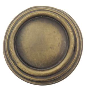 1 1/4 Inch Solid Pewter Sonnet Knob (Rubbed Bronze Finish)