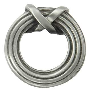 1 1/4 Inch Solid Pewter Sonnet Ring Knob (Satin Pewter Finish)