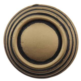 1 5/8 Inch Solid Pewter Sonnet Knob (Antique Brass Gold Finish)