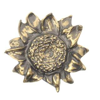 3 1/4 Inch Sunflower Knob (Rubbed Bronze Finish)