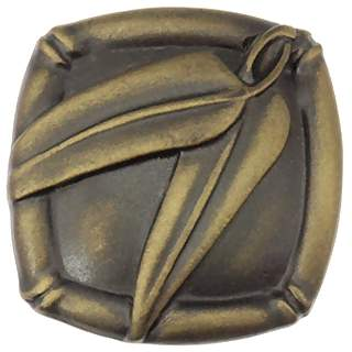 1 1/2 Inch Solid Pewter Japanese Bamboo Knob (Rubbed Bronze Finish)