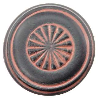 1 1/4 Inch Solid Pewter Cerrito Style Knob (Black Terra Cotta Finish)