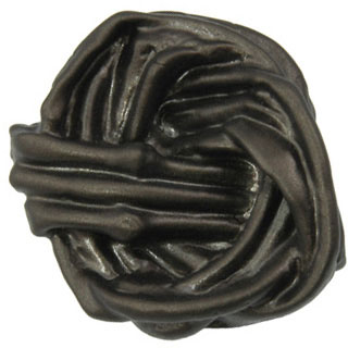 1 1/2 Inch Solid Pewter Cottage Vine Knob (Bronze Finish)