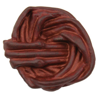 1 1/2 Inch Solid Pewter Cottage Vine Knob (Copper Rust Finish)