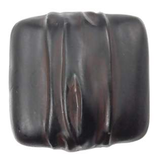 1 1/4 Inch Solid Pewter Hannah Square Knob (Black Chocolate Wash Finish)