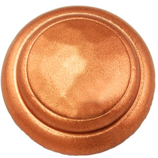 1 1/4 Inch Solid Pewter Round Knob (Bright Copper Finish)