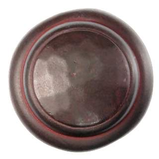 1 1/4 Inch Solid Pewter Nomad Style Knob (Rust Finish)