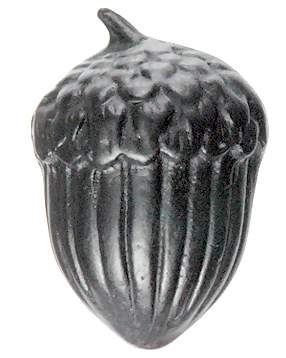 1 3/4 Inch Solid Pewter Large Acorn knob (Matte Black Finish)