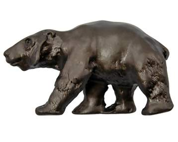 1 1/2 Inch Solid Pewter Black Bear Knob (Left Facing, Oil Rubbed Bronze Finish)