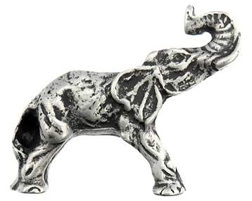 2 1/4 Inch Elephant Knob (Right Facing, Matte Pewter Finish)