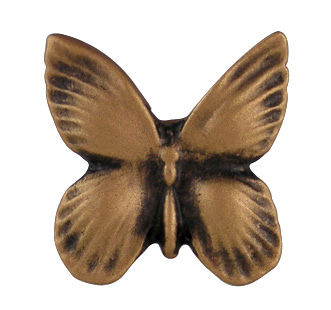1 1/4 Inch Solid Pewter Butterfly Knob (Antique Brass Gold Finish)