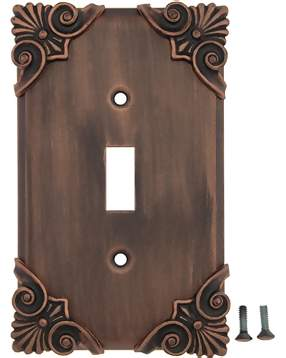 Corinthia Wall Plate (Antique Copper Finish)