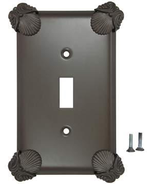 Oceanus Shell Wall Plate (Oil Rubbed Bronze Finish)