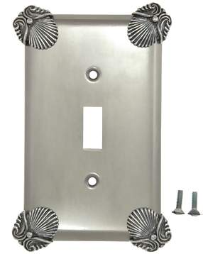 Oceanus Shell Wall Plate (Bright Nickel Finish)