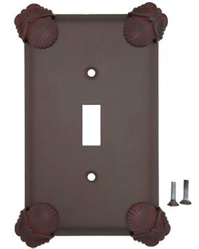Oceanus Shell Wall Plate (Rust Finish)
