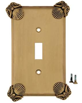 Oceanus Shell Wall Plate (Antique Brass Gold Finish)