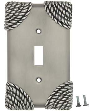 Roguery Ropes Wall Plate (Matte Nickel Finish)