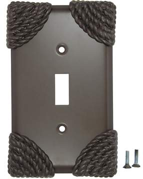 Roguery Ropes Wall Plate (Oil Rubbed Bronze Finish)