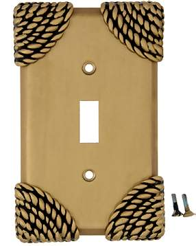 Roguery Ropes Wall Plate (Antique Brass Gold Finish)