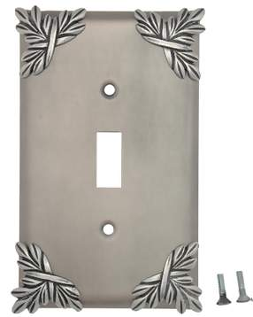 Sonnet Leaf Wall Plate (Matte Nickel Finish)