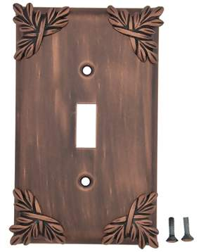 Sonnet Sonnet Leaf Wall Plate (Antique Copper Finish)