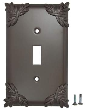 Sonnet Leaf Wall Plate (Oil Rubbed Bronze Finish)