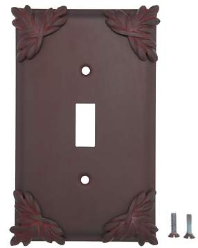 Sonnet Leaf Wall Plate (Rust Finish)